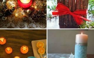 Как красиво оформить свечи на новый год