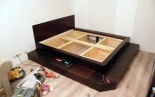 Как сделать подиум под кровать своими руками