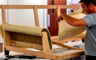 Обтягивание мебели тканью