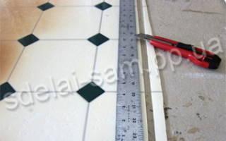 Как резать линолеум в углах