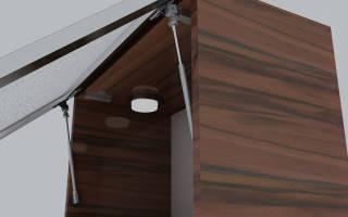 Как установить газовый лифт на мебель