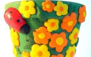 Как декорировать цветочный горшок своими руками