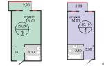 Как обустроить квартиру студию 25 кв м