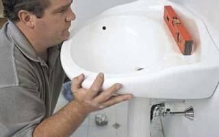 Как установить пьедестал под раковину