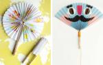 Как сделать японский веер своими руками