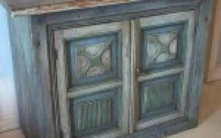 Покраска мебели под старину своими руками