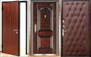 Как отделать металлическую дверь своими руками