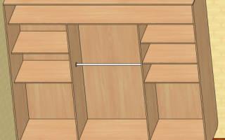 Как собирать шкаф купе 2 двери