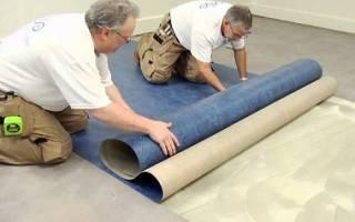 Что постелить под линолеум на бетонный пол