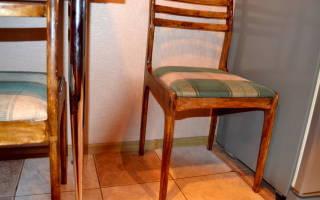 Как обшить стул со спинкой своими руками