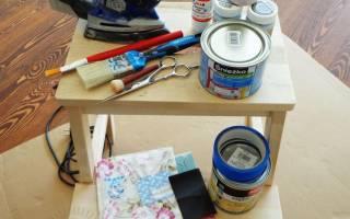 Как сделать декупаж мебели своими руками
