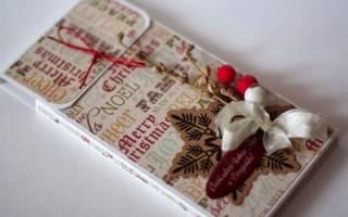 Как упаковать шоколадку в подарок своими руками