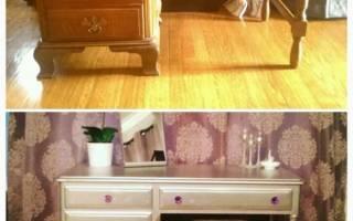 Как реставрировать старый стол своими руками