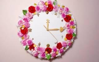 Как самому сделать настенные часы своими руками