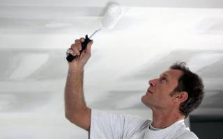 Как помыть потолок покрашенный водоэмульсионной краской