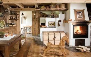 Как обустроить деревенский дом внутри своими руками