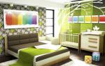 Расстановка мебели в спальне с детской кроваткой
