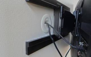Как убрать провода от телевизора на стене