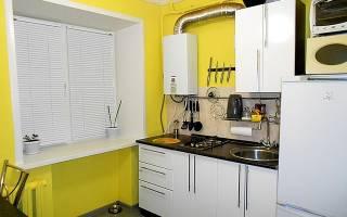 Как спрятать газовый шланг на кухне