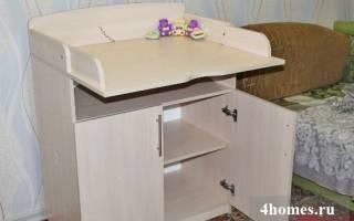 Пеленальный столик для новорожденных своими руками