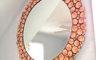 Как сделать рамку для зеркала из дерева