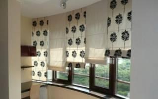Как повесить римские шторы на пластиковые окна