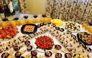 Как накрыть фуршетный стол на день рождения
