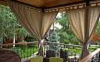 Уличные рулонные шторы для беседок и веранд