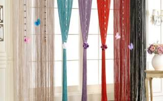 Как стирать нитяные шторы со стеклярусом