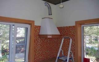 Как установить кухонную вытяжку в частном доме
