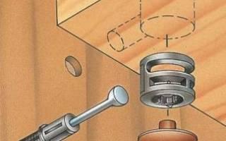 Эксцентриковая стяжка для мебели как установить