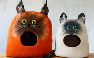 Как изготовить домик для кошки своими руками