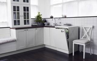 Как встроить посудомоечную машину под столешницу