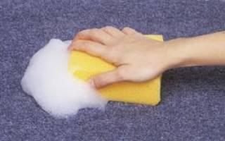 Как отмыть палас в домашних условиях