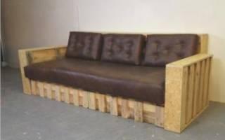 Как сделать диван из поддонов своими руками