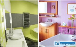 Как красиво покрасить ванную комнату своими руками