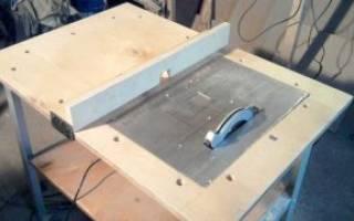 Как установить дисковую пилу на стол