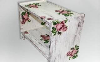 Обновление старой мебели техникой декупаж своими руками