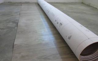 Как правильно класть линолеум на бетонный пол