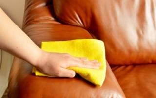 Как почистить кожаную мебель светлую