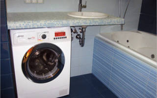 Как сделать раковину над стиральной машиной