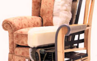 Как обтянуть кресло тканью своими руками