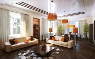 Как оформить гостиную в частном доме