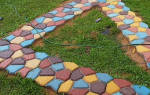 Чем покрасить тротуарную плитку на улице