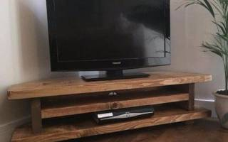 Как сделать тумбочку под телевизор своими руками