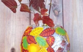 Как можно украсить вазу своими руками