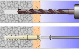 Как забить дюбель в бетонную стену