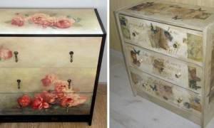 Как перекрасить старую мебельную стенку