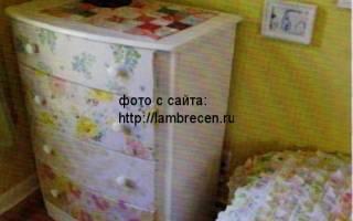 Как обклеить шкаф тканью