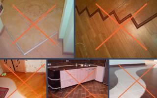 Как совместить плитку и ламинат в прихожей